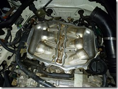 Lower intake manifold after cleaning